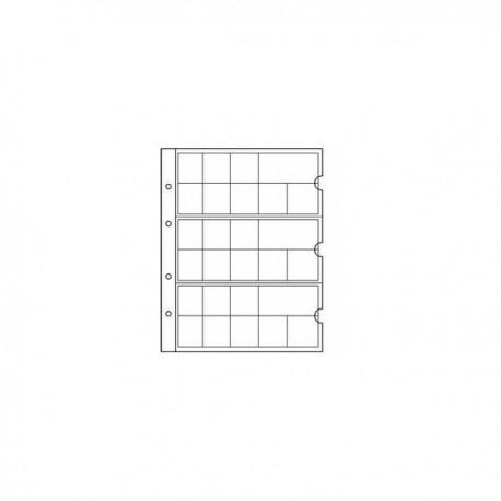 """Лист в альбом """"NUMIS"""" для евро наборов, на 24 ячейки"""